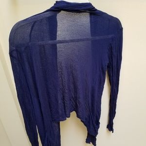 Forever 21 Sheer Navy Blue Cardigan Size Small
